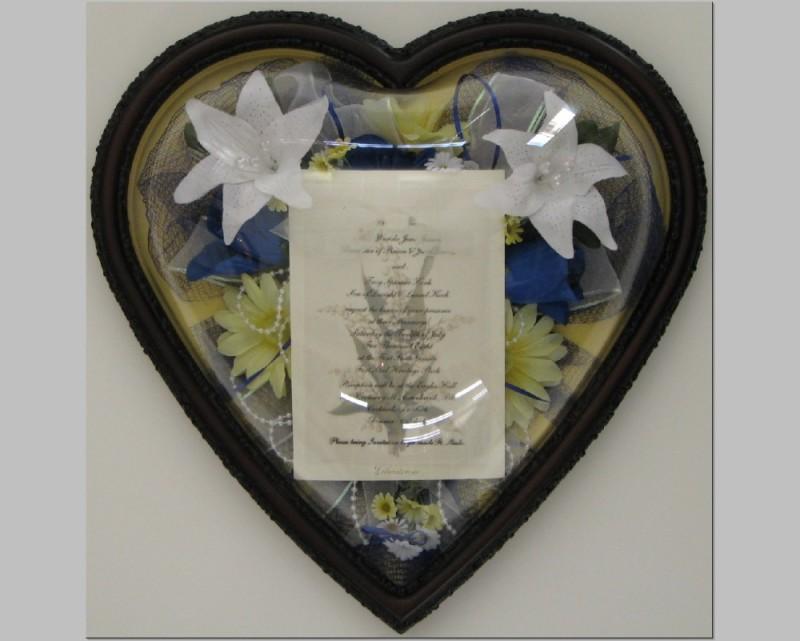 Wedding Flowers in Heart Shape Frame