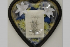 Wedding Flowers in Heart Shape Frame