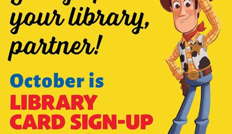 October is Library Month, get FREE art with your card!